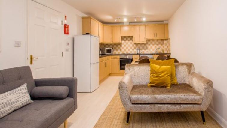 Living space at the Minster's Reach Apartments - Citybase Apartments